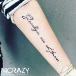 Schrift Tattoo